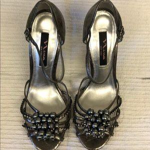 Nina gunmetal shoes. Like new worn once.